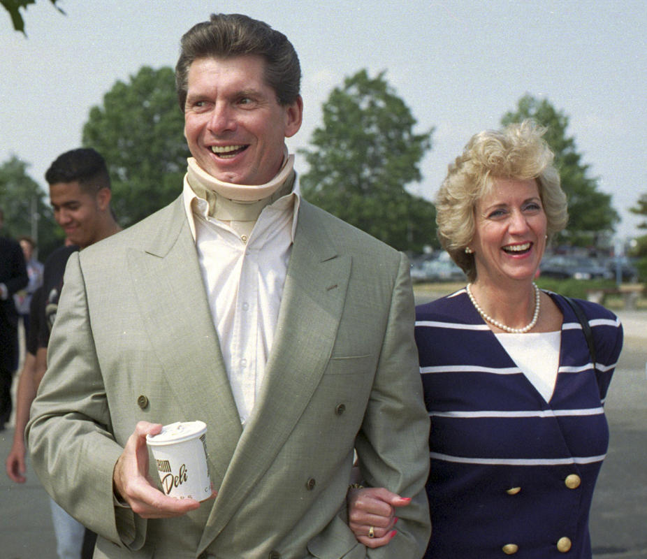 FILE – In this July 22, 1994 file photo, Vince McMahon, owner of the ...